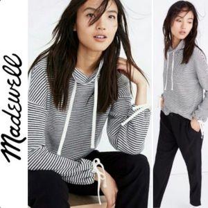 Miles by Madewell Funnel Tie Sleeve Sweatshirt